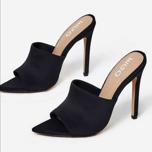 Egoofficial Brianna pointed toe lycra mule